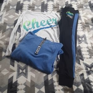Hoodie long sleeve shirt and a pair of joggers